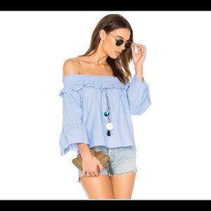 Misa LA  Alma Top Off Shoulder